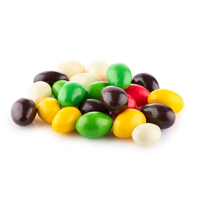 Миндаль в цветной шоколадной глазури